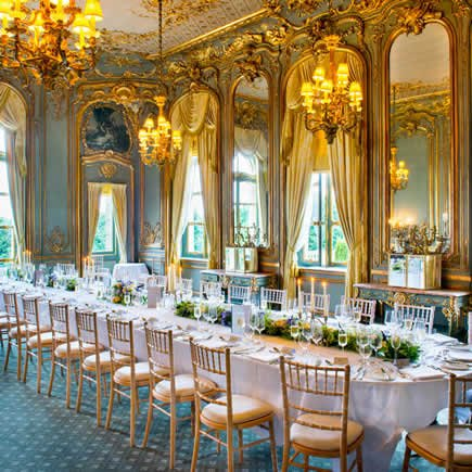 Ornate gilt dining room at Cliveden House - Mark Sisley Photography