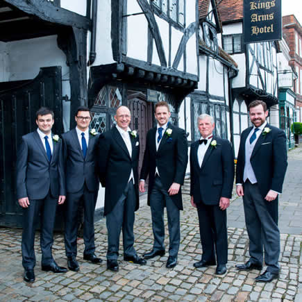 Groom and ushers at a wedding at Kings Chapel Amersham Bucks - Mark Sisley Photography
