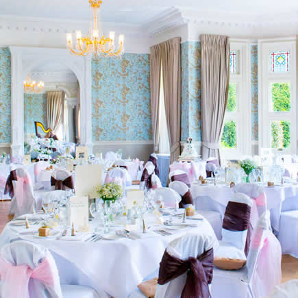 Pendley Manor laid up for a wedding - Mark Sisley Photography