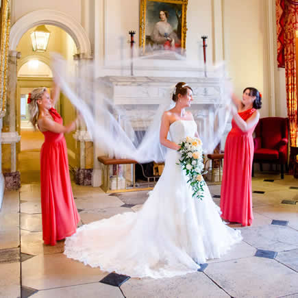 Bride and bridesmaids at Wokefield Estate Berkshire - Mark Sisley Photography