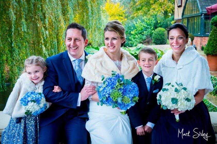 Bride and groom and bridal party - wedding at The Dairy Waddesdon Manor - Mark Sisley Photography