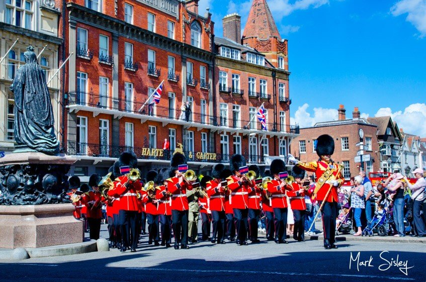 Corporate event - marching band at Windsor Harte and Garter Hotel - Mark Sisley Photography