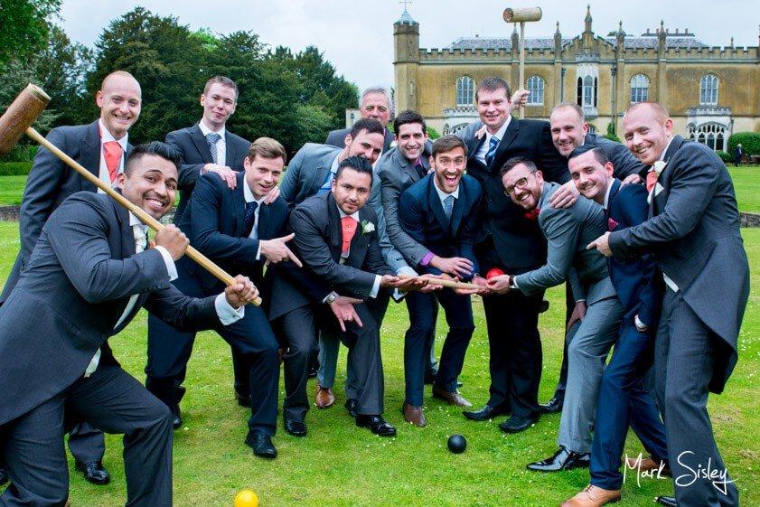 Ushers at wedding at Missenden Abbey - Mark Sisley Photography