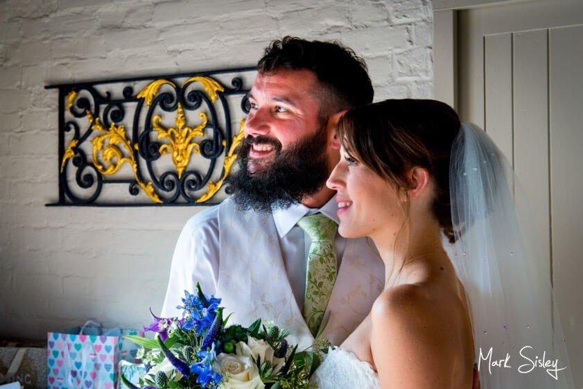 Bride and groom - wedding at Five Arrows Waddesdon Manor - Mark Sisley Photography