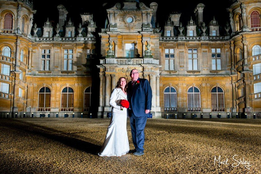 Bride and groom - wedding at Waddesdon Manor - Mark Sisley Photography