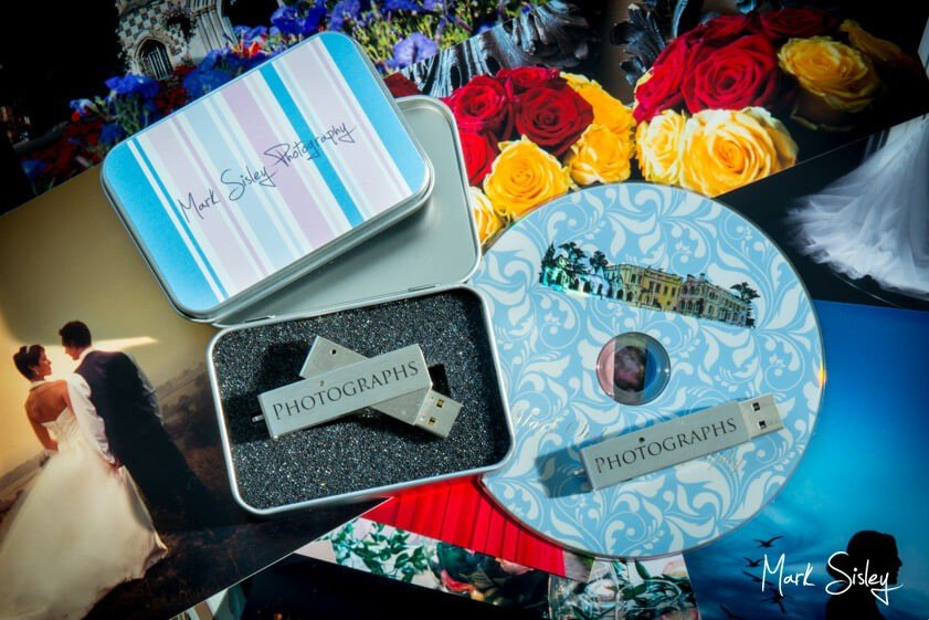 USB and CD of wedding - Mark Sisley Photography