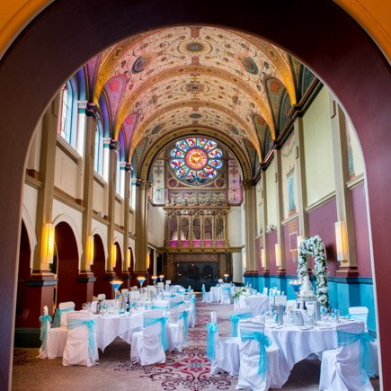 Great hall at Beaumont Estate set for wedding