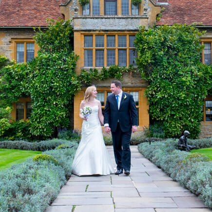 Bride and groom - wedding at Le Manoir aux Quat' Saisons