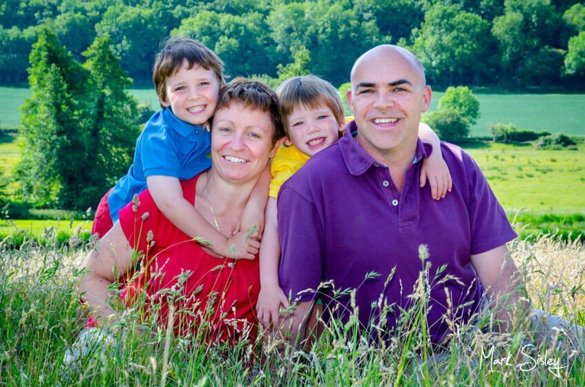 family portrait photograph - Mark Sisley Photography