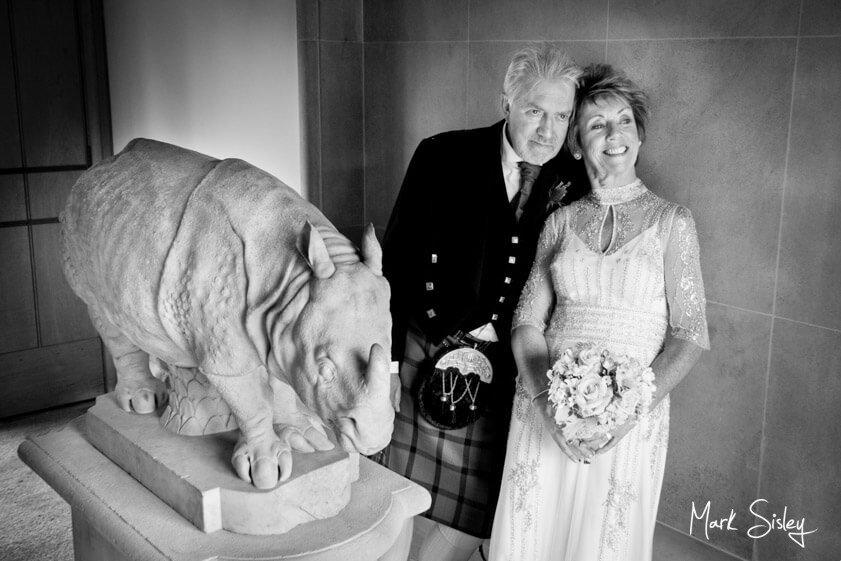 Bride and groom - wedding at The Dairy Waddesdon Manor - Mark Sisley Photography