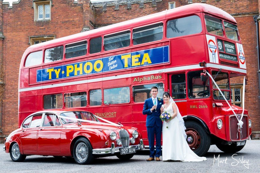 Bridal party with Roadmaster double decker bus - Mark Sisley Photography