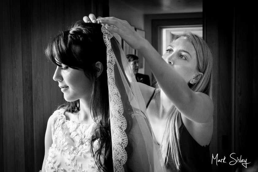 bride getting ready for wedding - Mark Sisley Photography