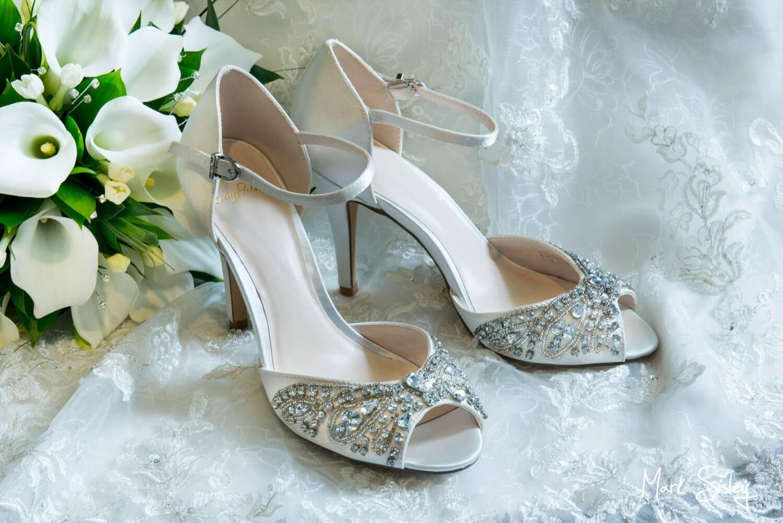 Beaumont Estate wedding shoe photographs