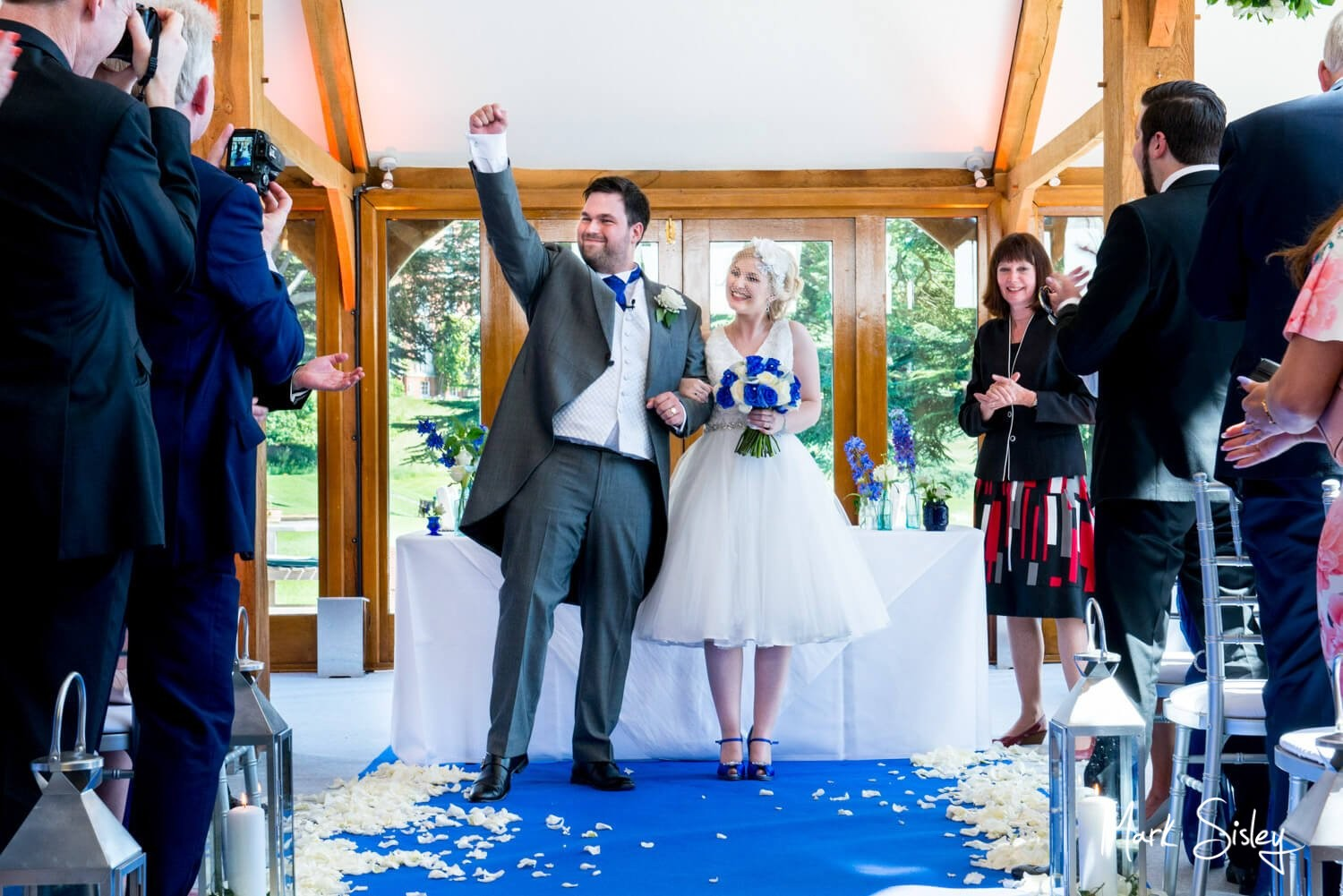 Brocket Hall wedding photography during the civil ceremony