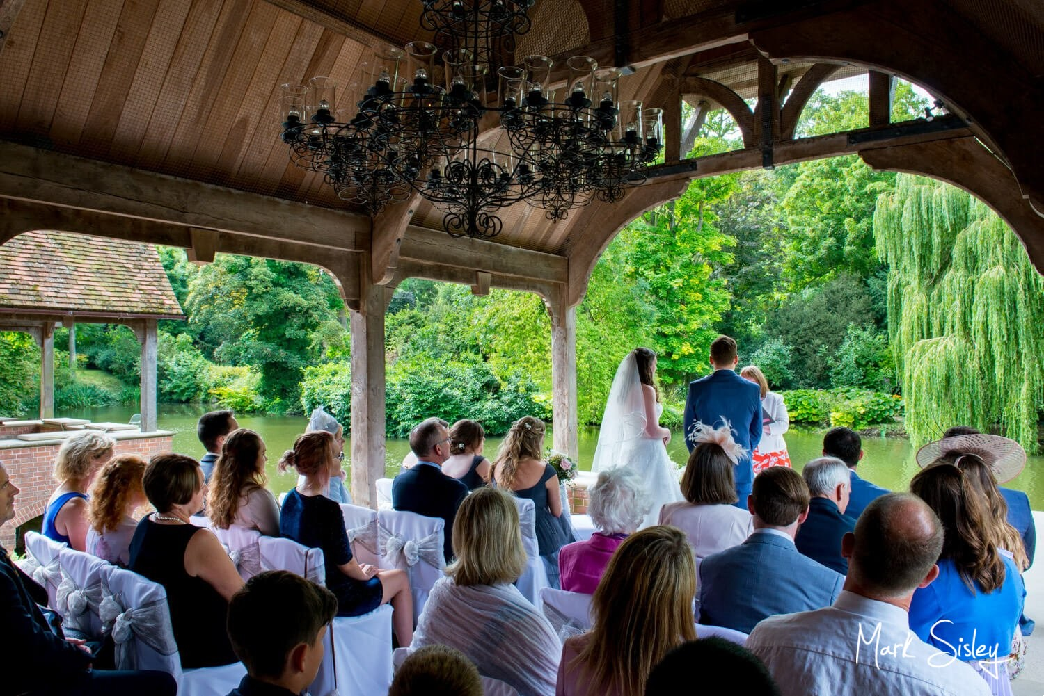 Magical Dairy Waddesdon summer wedding in the waterside pavilion