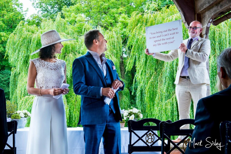 Summer Dairy Waddesdon wine themed wedding ceremony