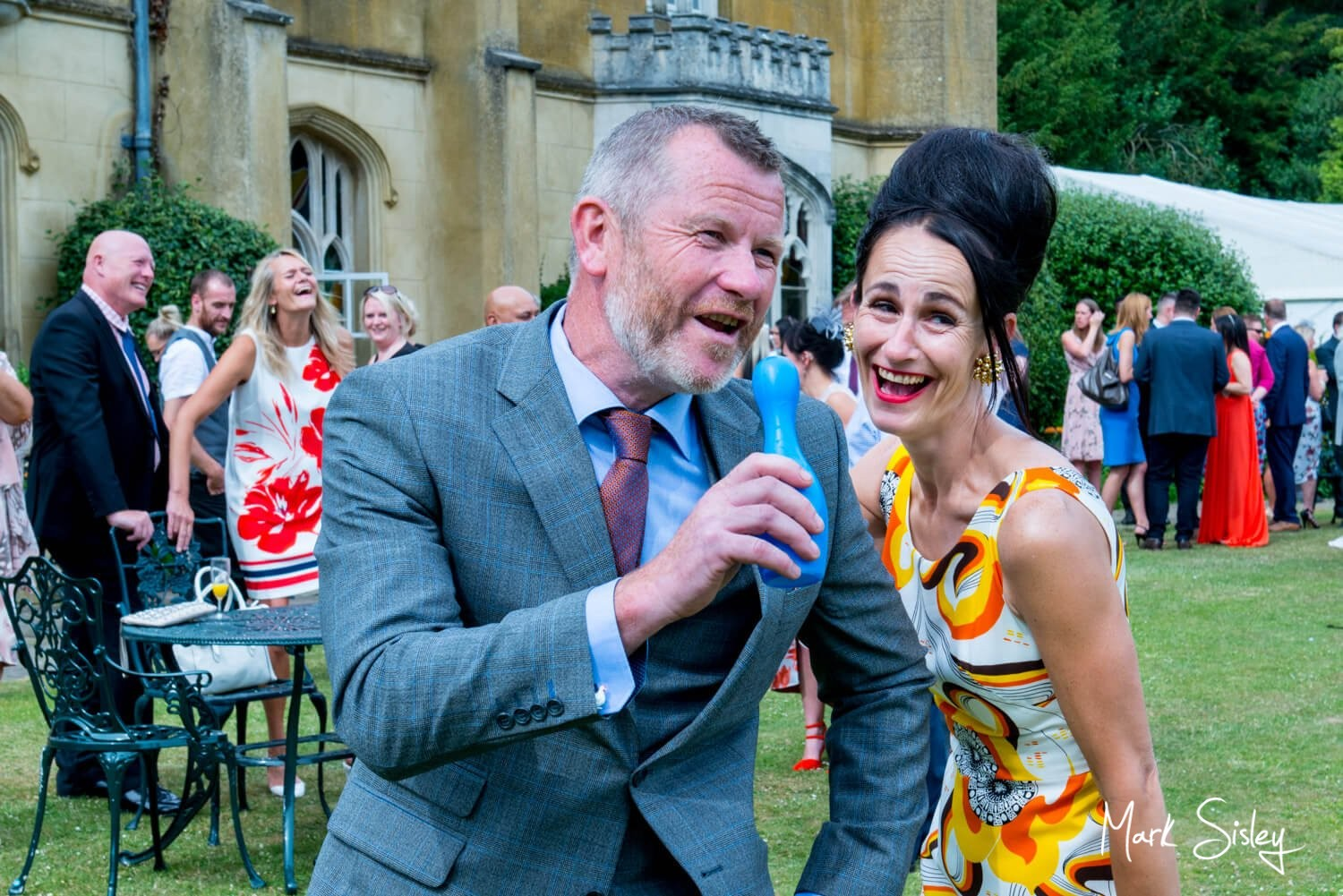 Missenden Abbey wedding images of the guests singing their hearts out