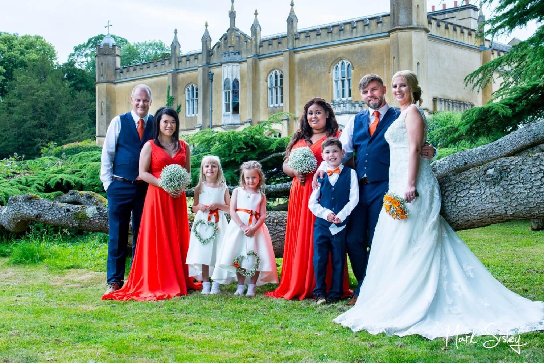 Missenden Abbey wedding images under the 400yr old cedar tree