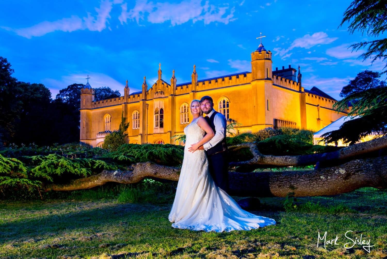 Missenden Abbey wedding images captured at dusk