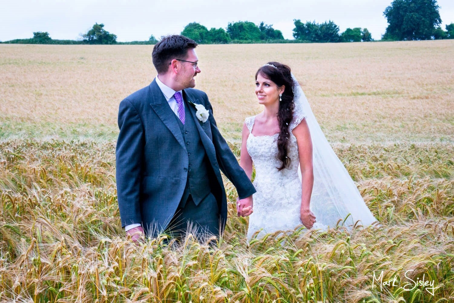 Wheat field Clearwell Castle wedding photography
