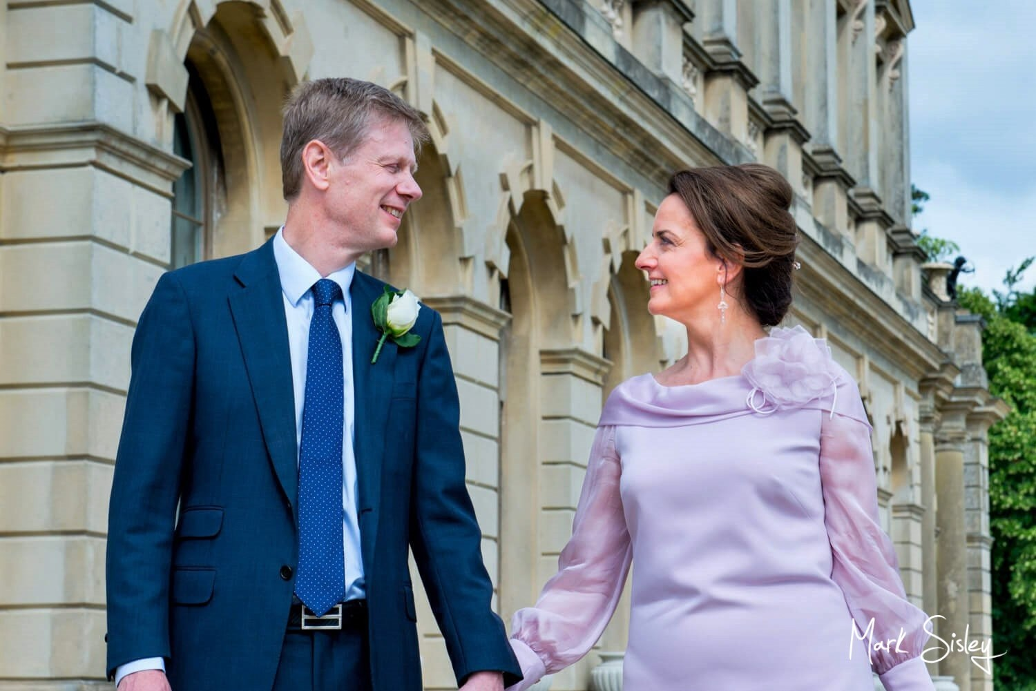 Cliveden House wedding photography outdoors on the rear terrace - blog post