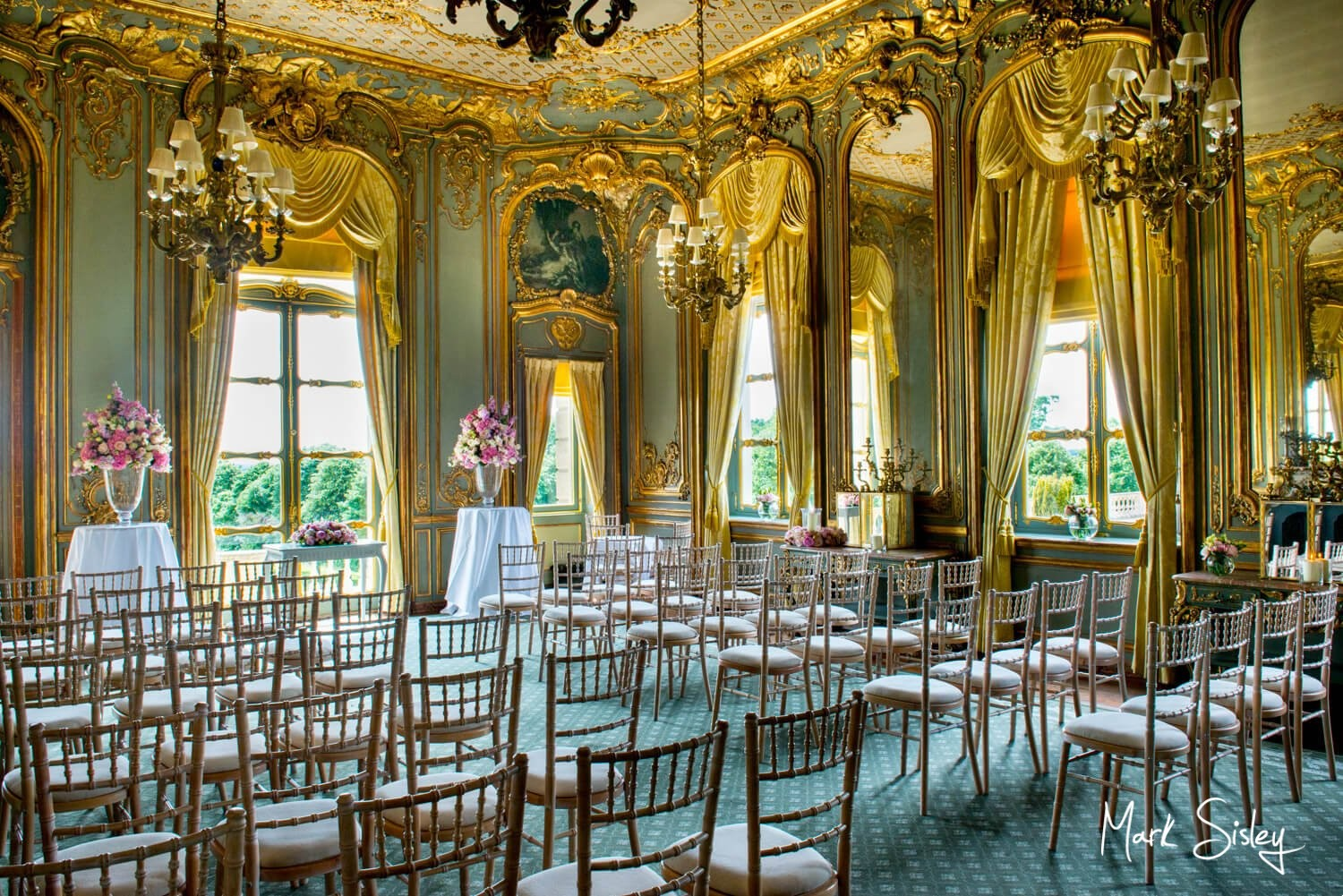 Cliveden House wedding photography interior of The French Dinning Room - blog post