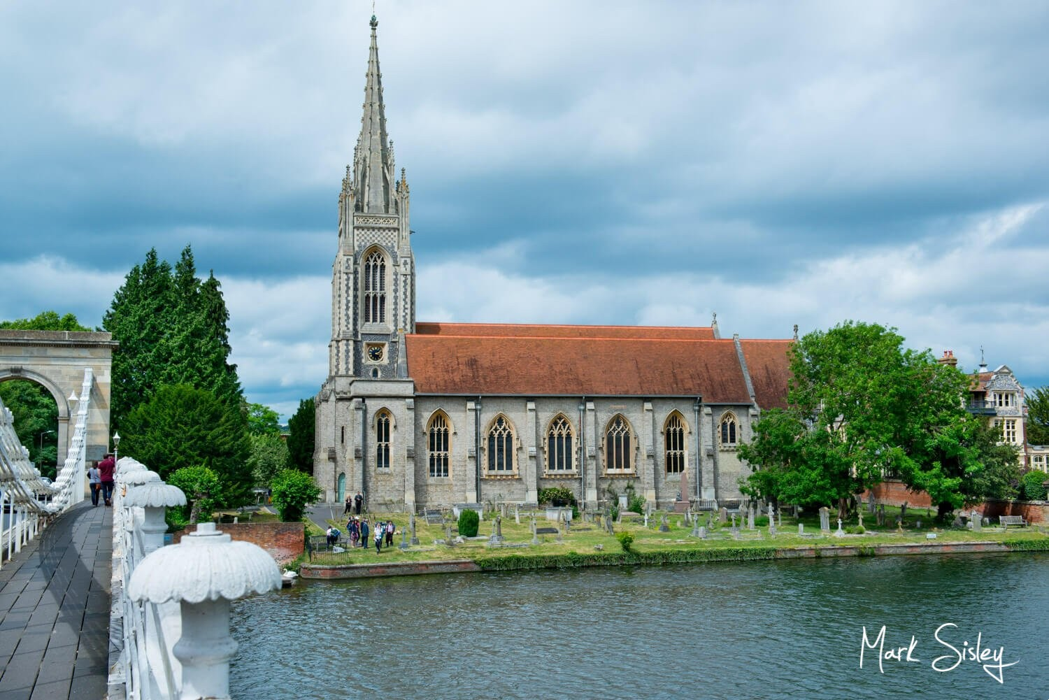 All Saints Church in Marlow just before a wedding service