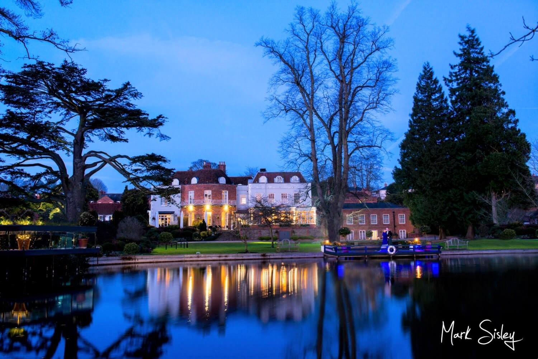 St. Michaels Manor wedding venue at dusk