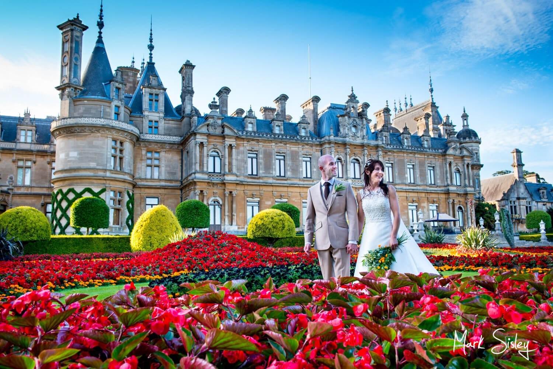 Choosing a wedding photographer - newlyweds at Waddesdon Manor