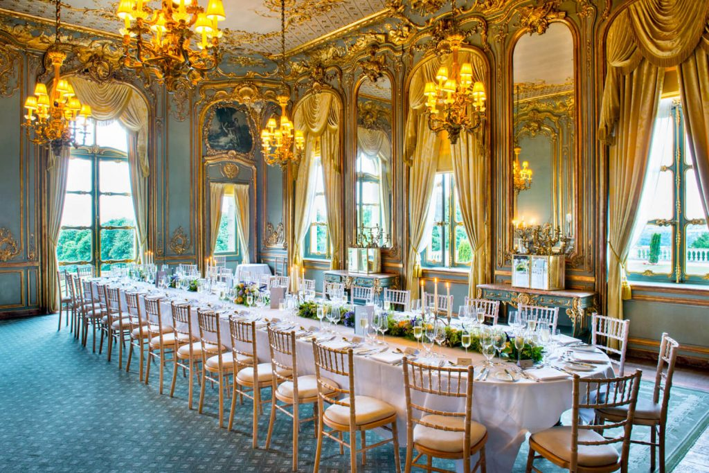 Cliveden House wedding images of the glorious French Dining Room