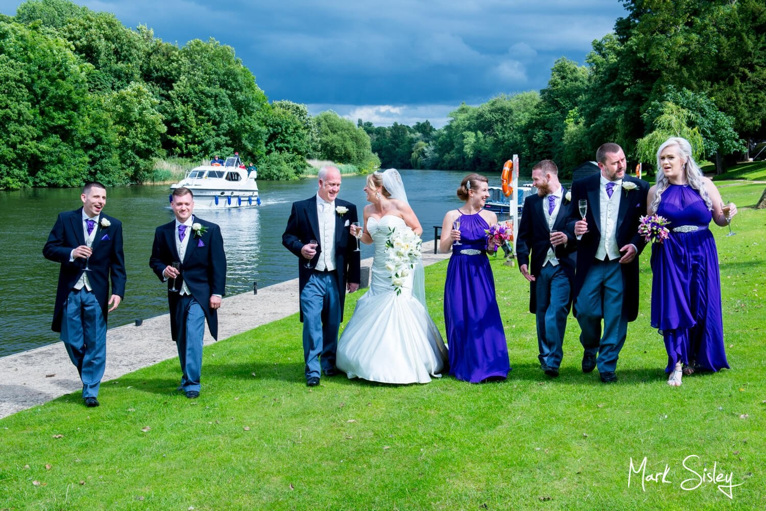 Oakley Court Hotel wedding photography beside the River Thames