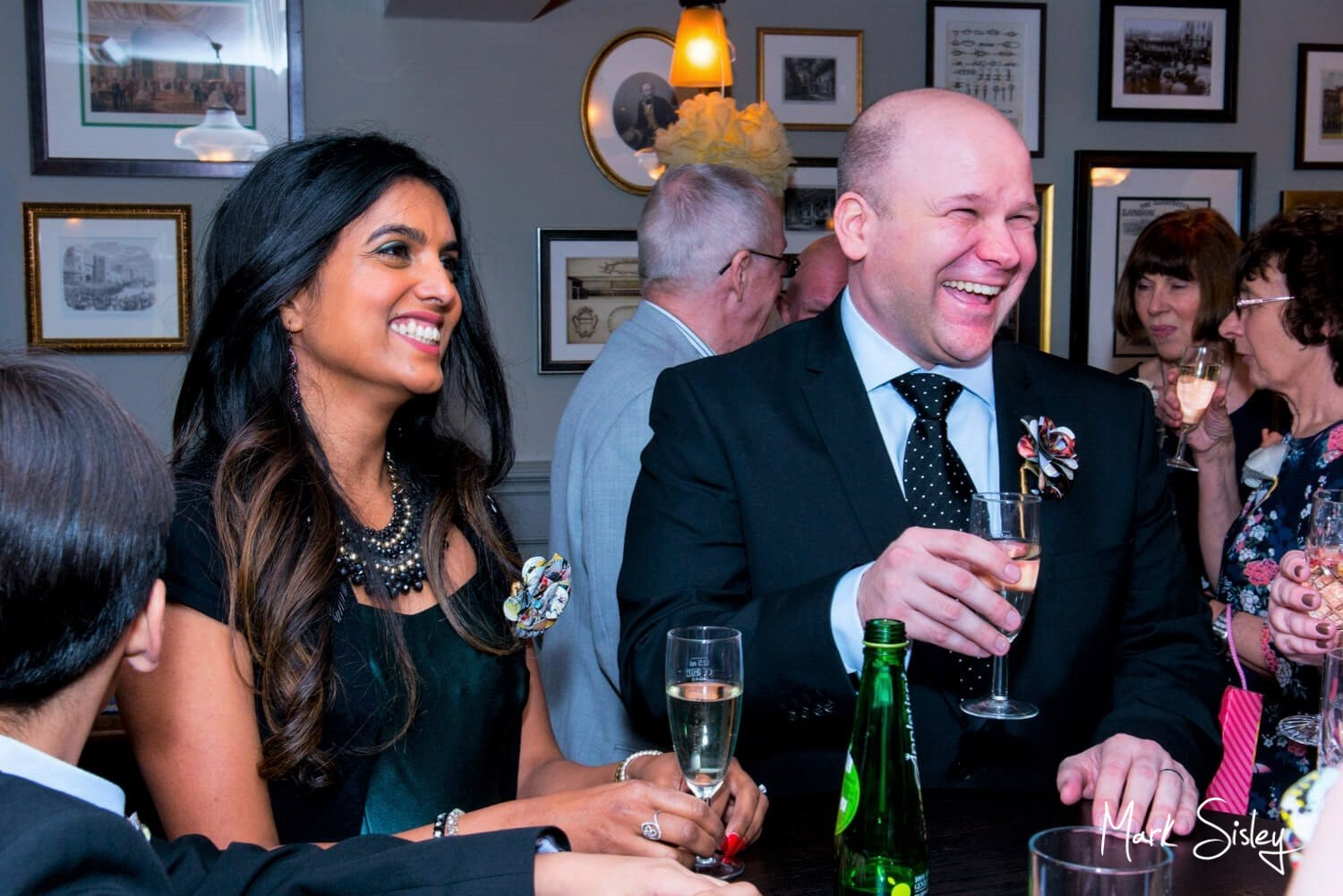 Beaumont Estate winter wedding drinks reception captured by Mark Sisley photography
