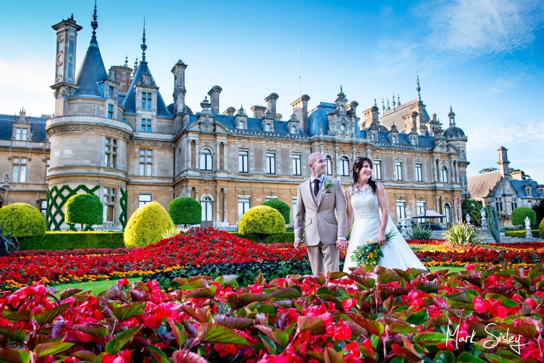 Dairy Waddedon wedding photographs - Bride & Groom at the manor