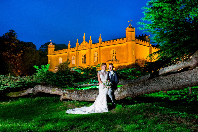 Missenden Abbey wedding pose at dusk