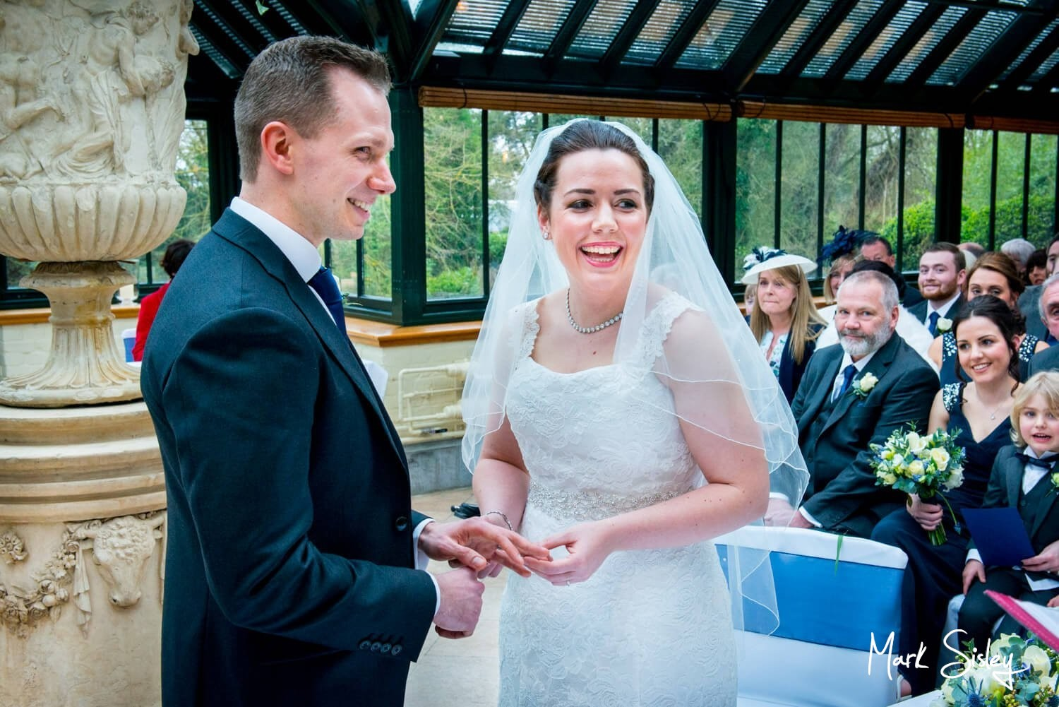The Dairy Waddesdon newlweds exchange vows at their Spring wedding
