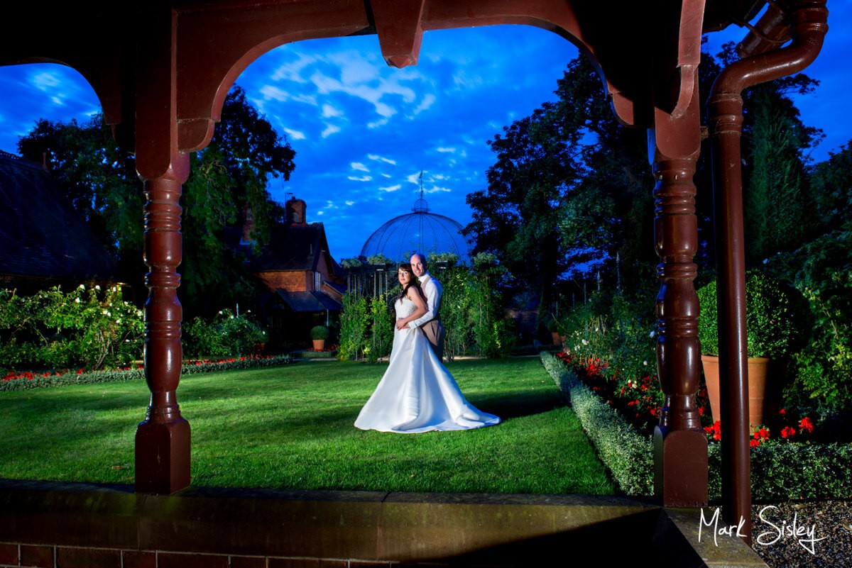 Night time photography image of couple at The Dairy Waddesdon Manor
