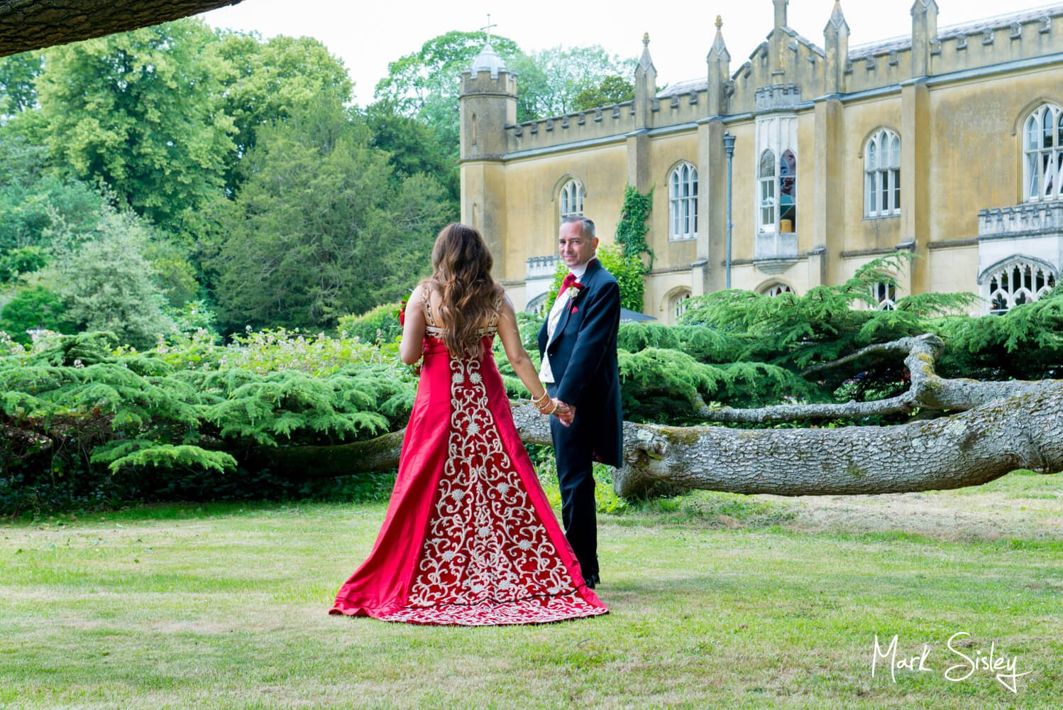 Missenden Abbey wedding blog - Newlyweds in the abbey grounds