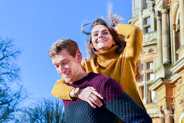 Waddesdon Manor portrait photograph of a fun loving couple