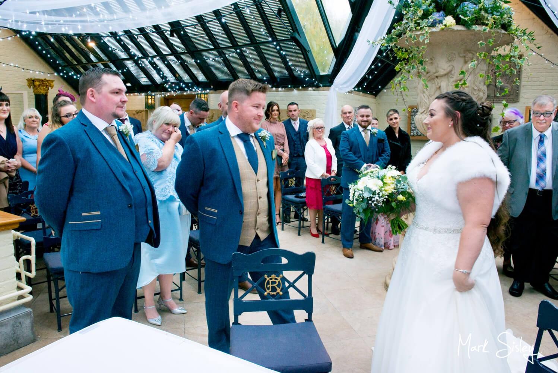 Waddesdon Dairy winter wedding ceremony