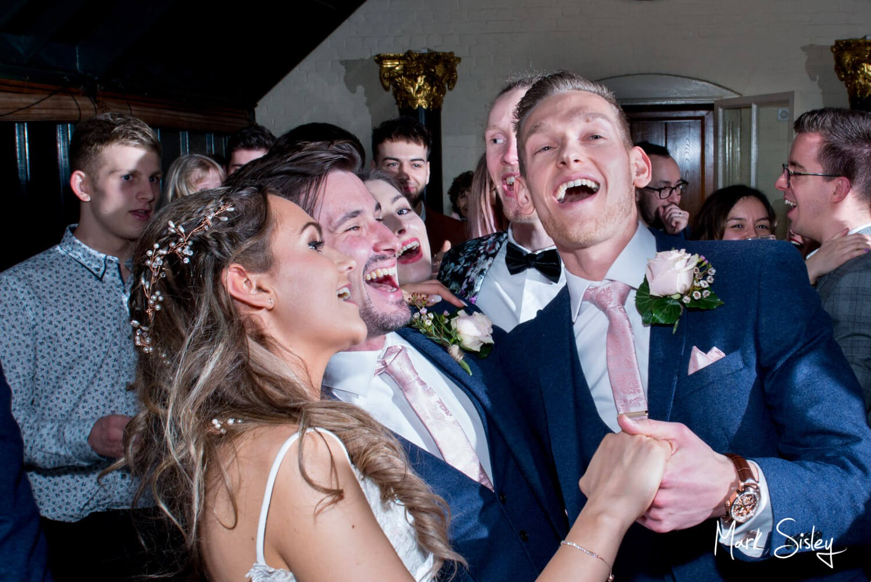 The dancing at Waddesdon Manor wedding during Storm Dennis