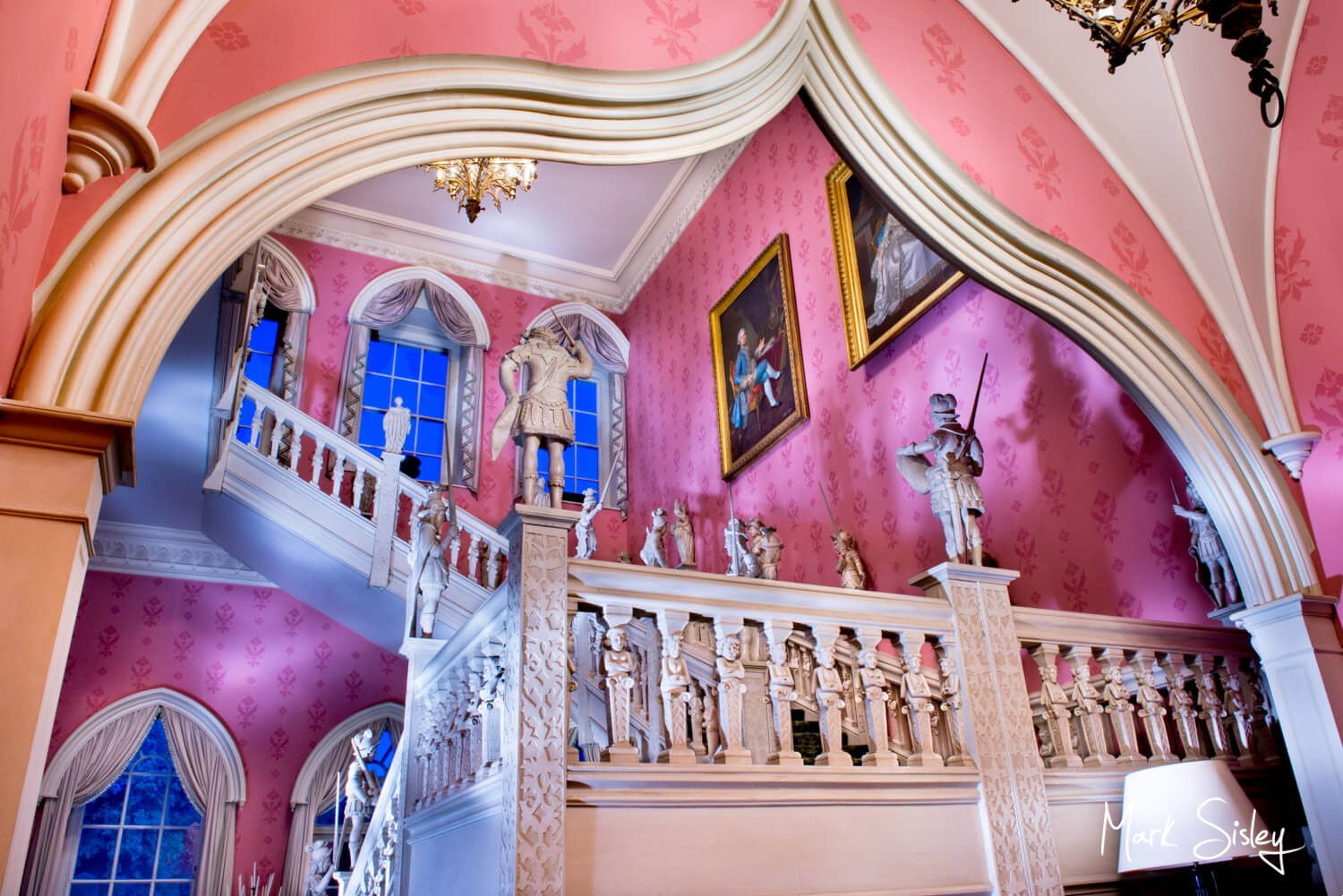Buckinghamshire and London commercial photography of the most striking interiors at dusk - Hartwell House