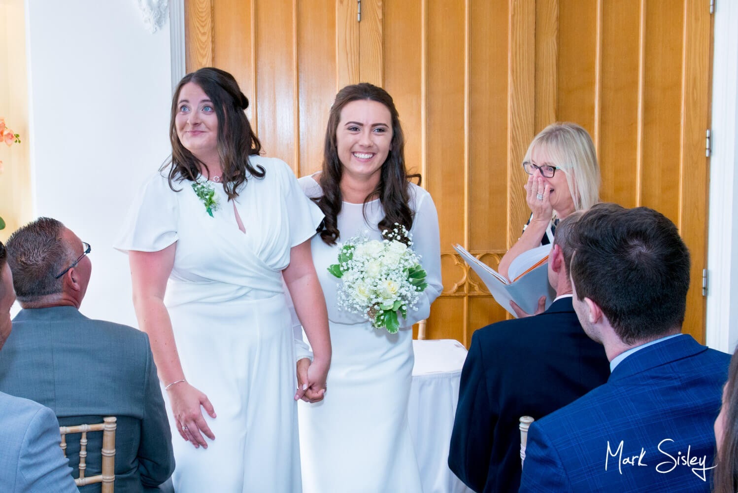 Missednden Abbey wedding photography during civil ceremony