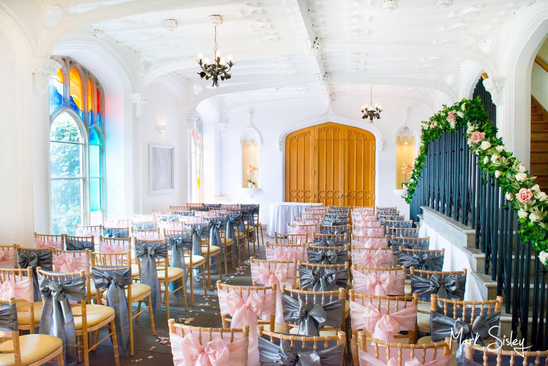 Missednden Abbey wedding photography of ceremony interior