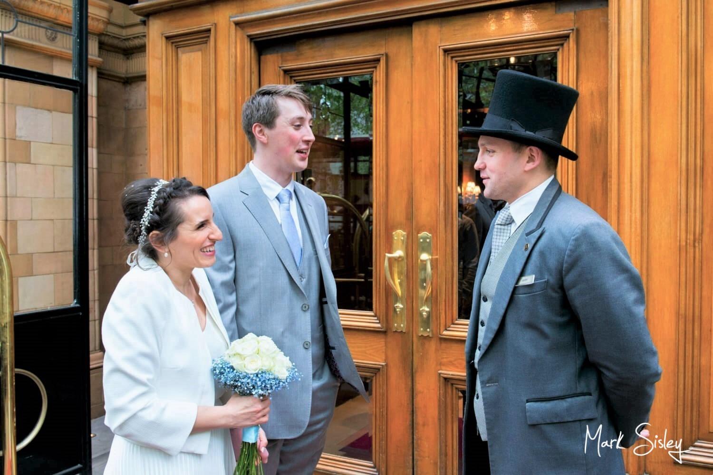Landmark Hotel Marylebone wedding photography