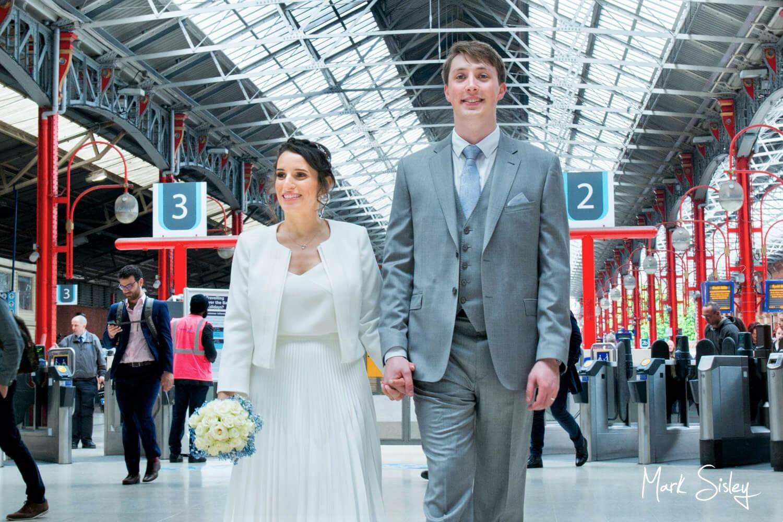Marylebone Station wedding photography