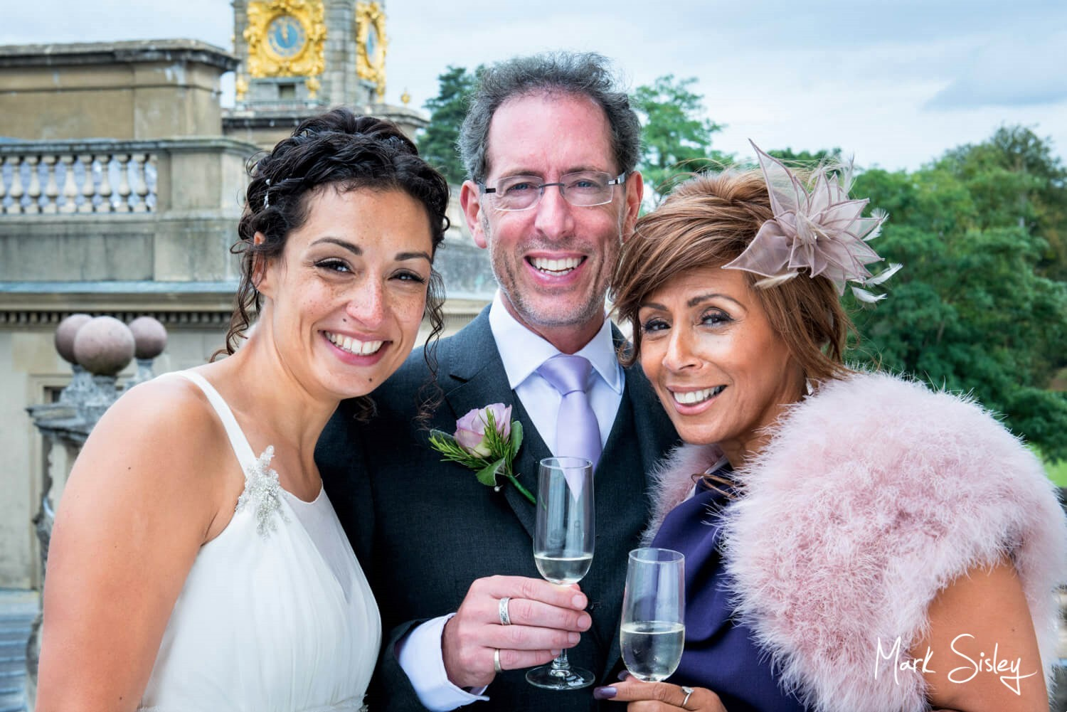 Cliveden House wedding photography blog - The bride with her parents