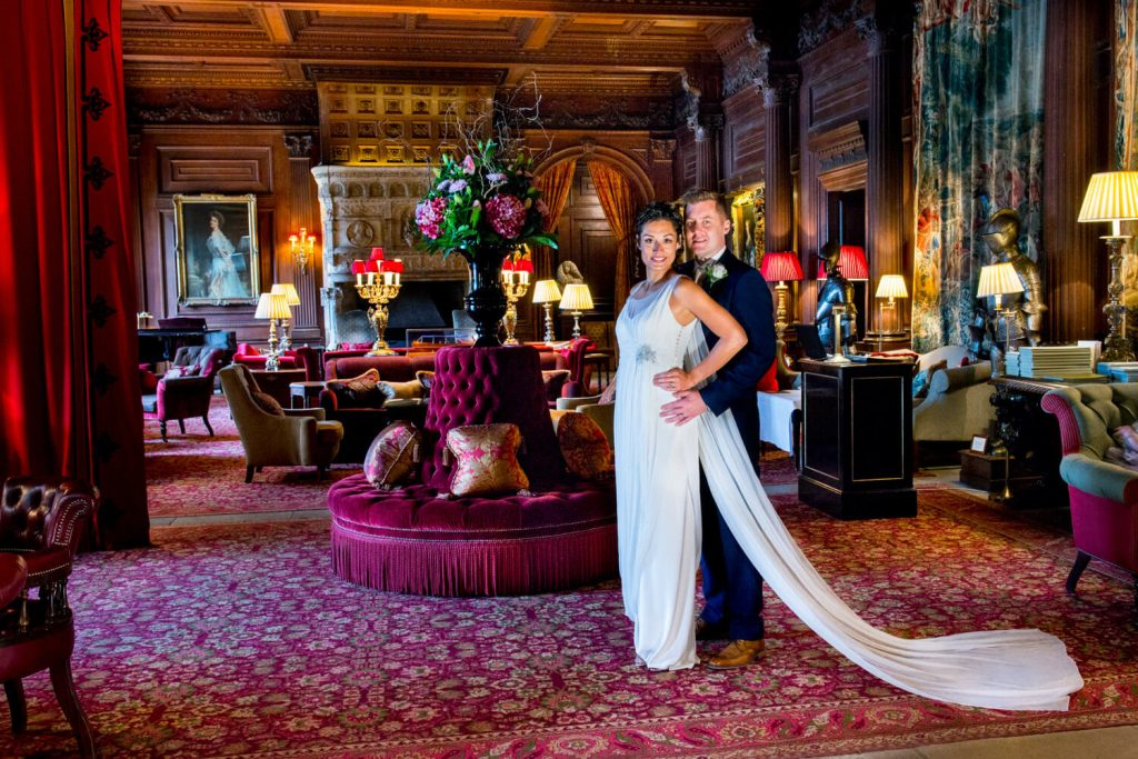 Cliveden House wedding photographs in the Great Hall