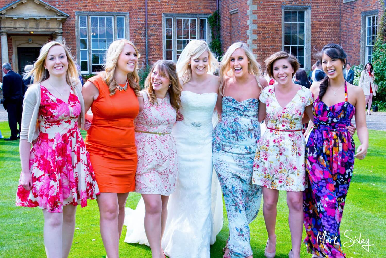 Dorton House candid wedding image of the ladies