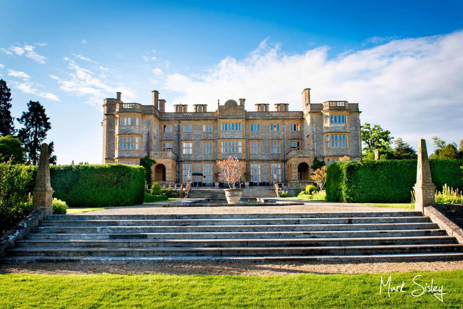 The exterior of Eynsham Hall is great for wedding photographs