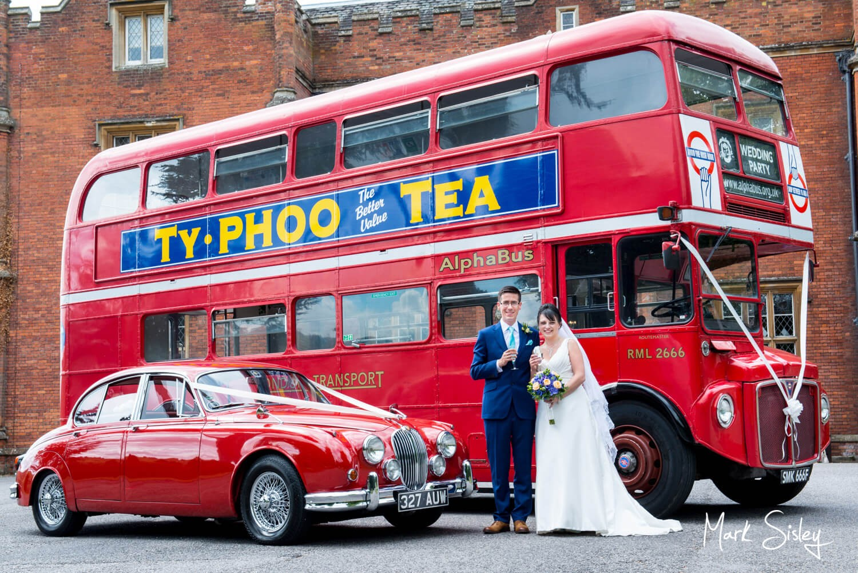 Latimer Estate wedding car and red London bus